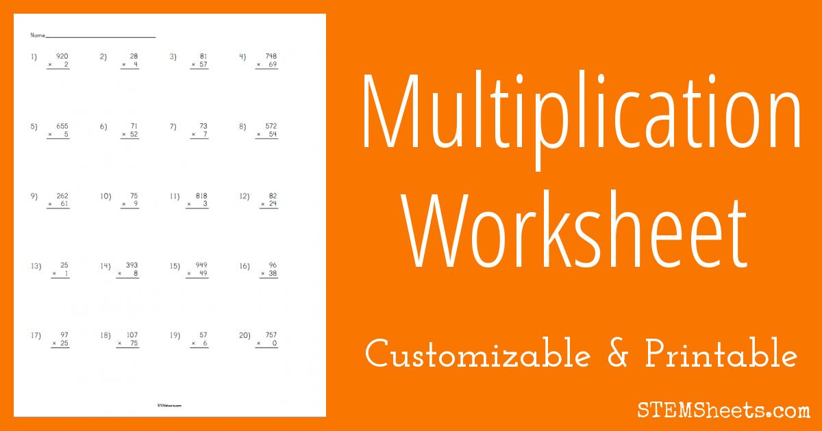 Multiplication Vertical Worksheets Answer Key 3