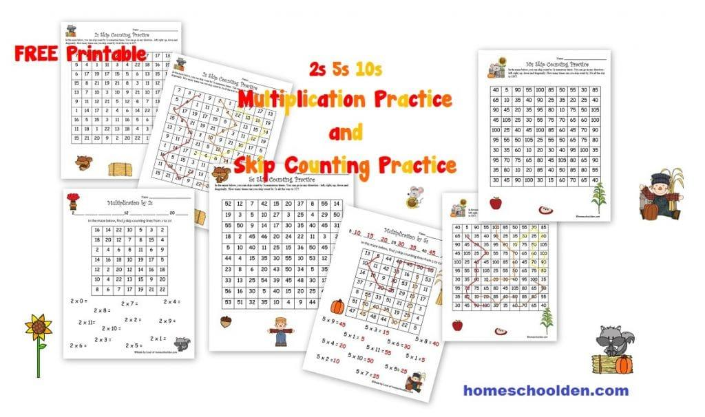Multiplication Worksheets 1 And 2 Times Tables