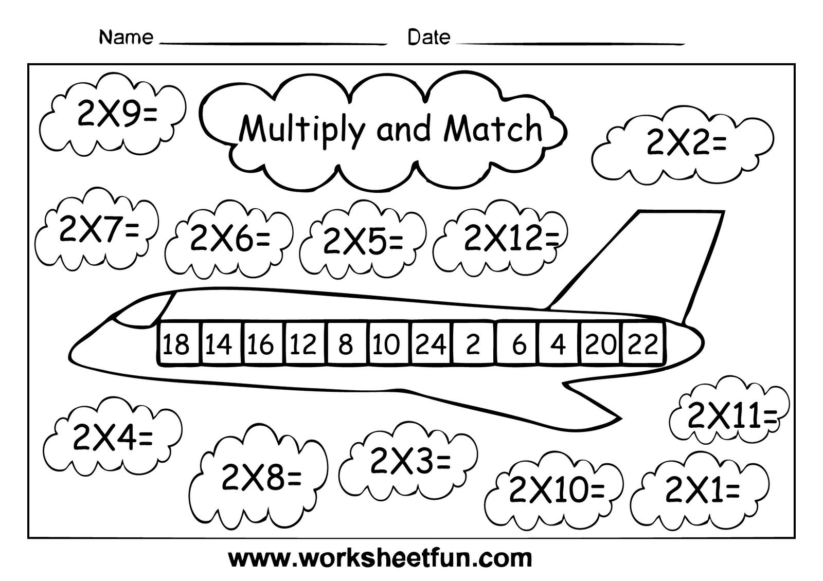 Multiplication Worksheets 2 Times Tables