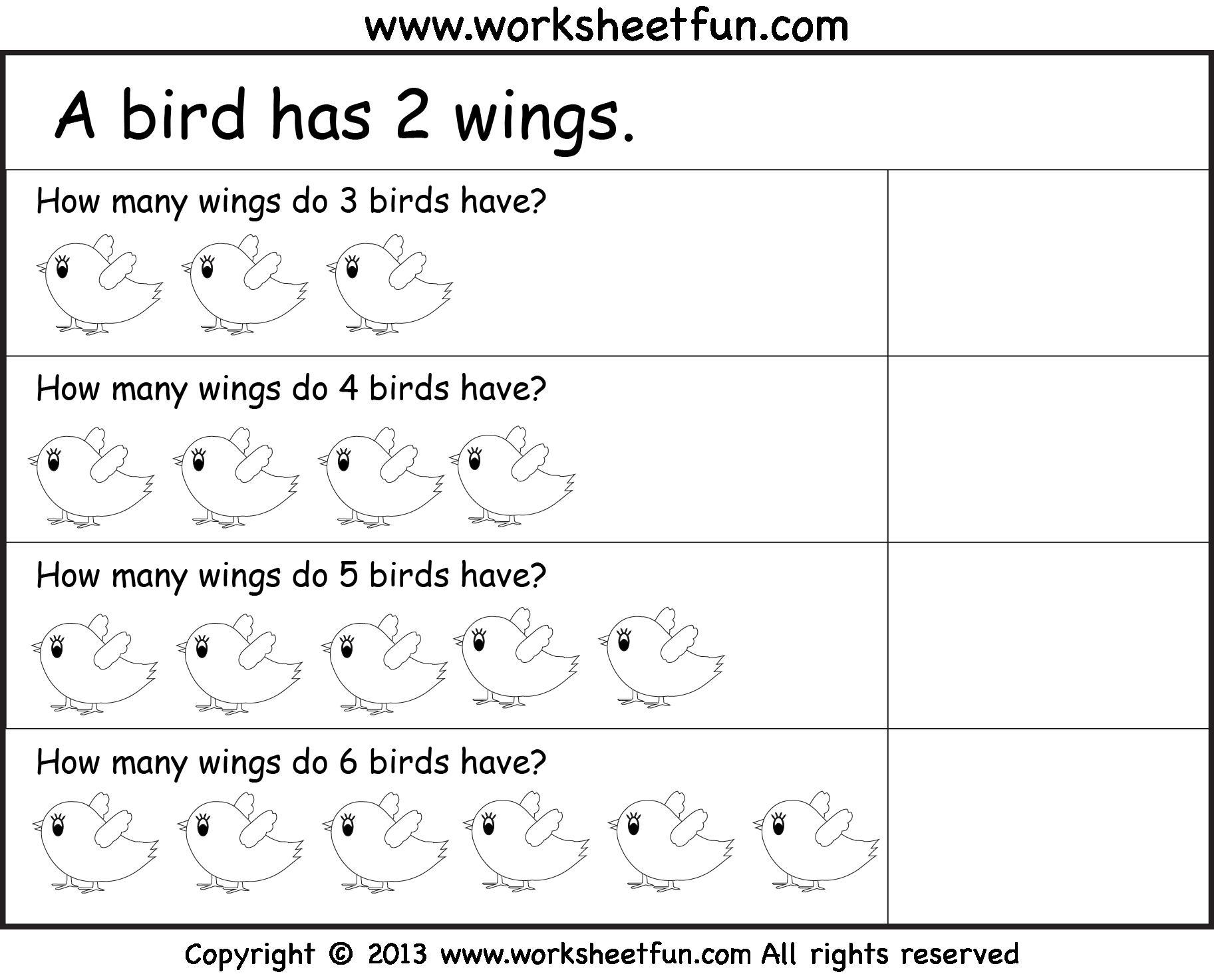 Multiplication Worksheets Grade 1