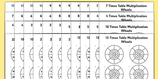 Multiplication Worksheets To 12 1