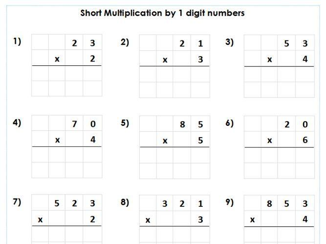 Multiplication Worksheets Year 4 1