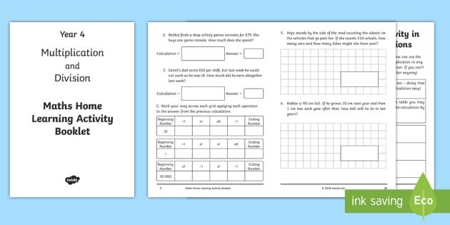 Multiplication Worksheets Year 4 Uk