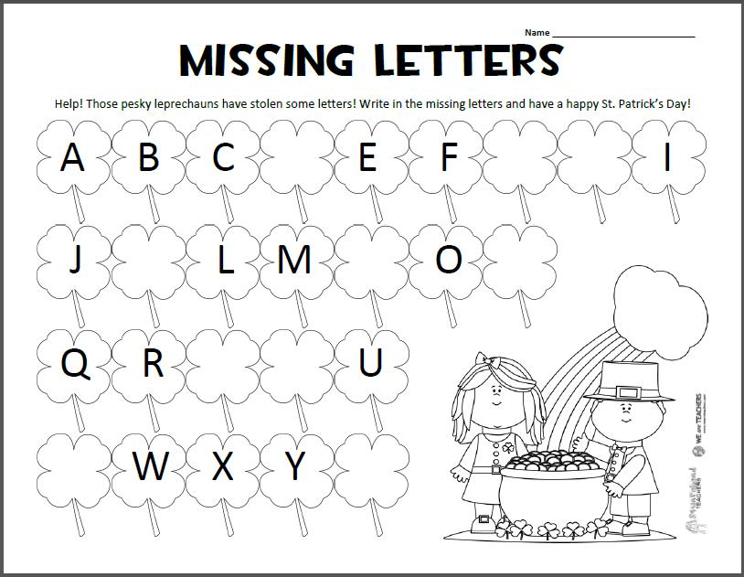 Preschool English Worksheets Age 6