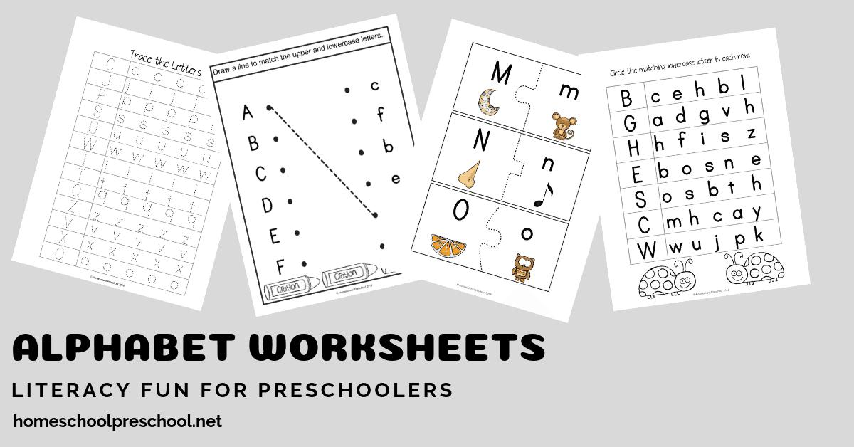 Preschool Matching Letters Worksheets