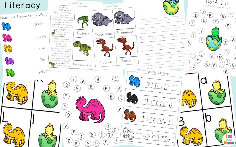 Free Dinosaur Worksheets For Preschool