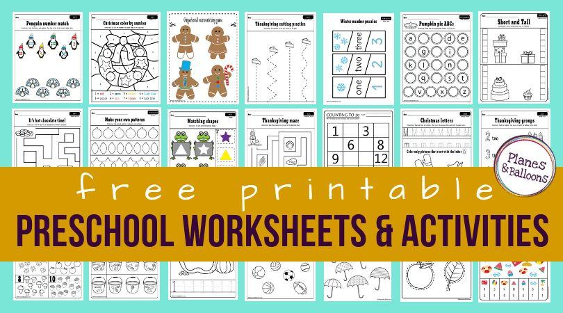 Free Preschool Worksheets Age 4-5 Uk