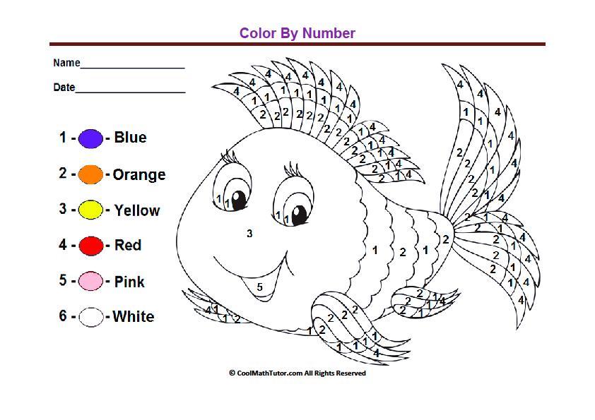 Free Printable Color By Number Worksheets For Preschoolers