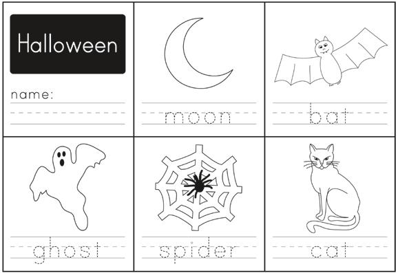 Halloween Counting Worksheets Preschool