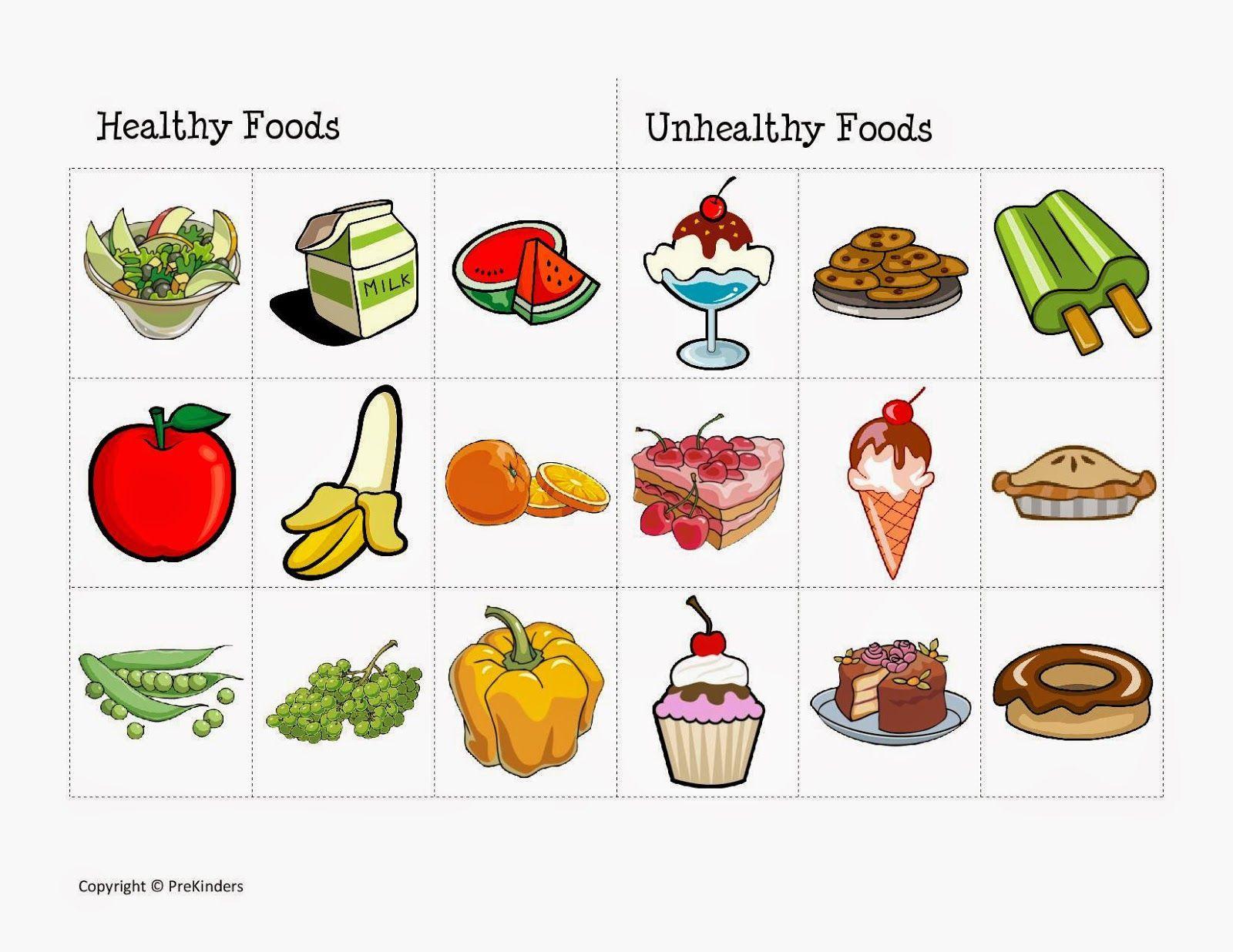 Healthy Food Worksheets For Preschool