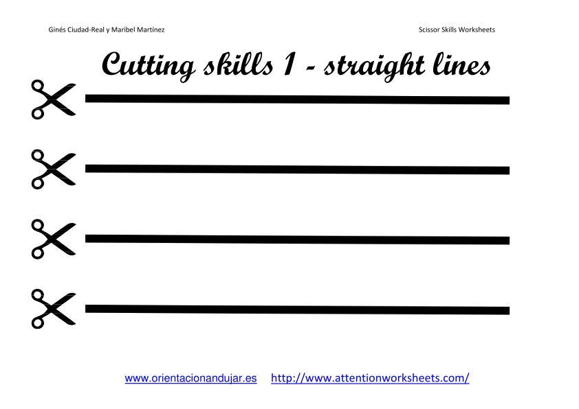 Preschool Cutting Worksheets Pdf