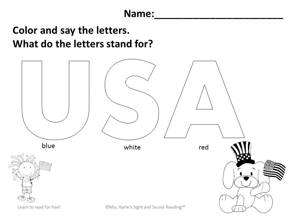 Preschool Fourth Of July Worksheets 4
