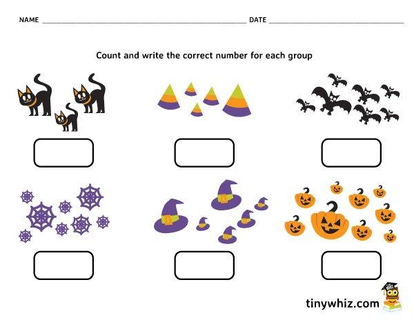 Preschool Halloween Activity Worksheets