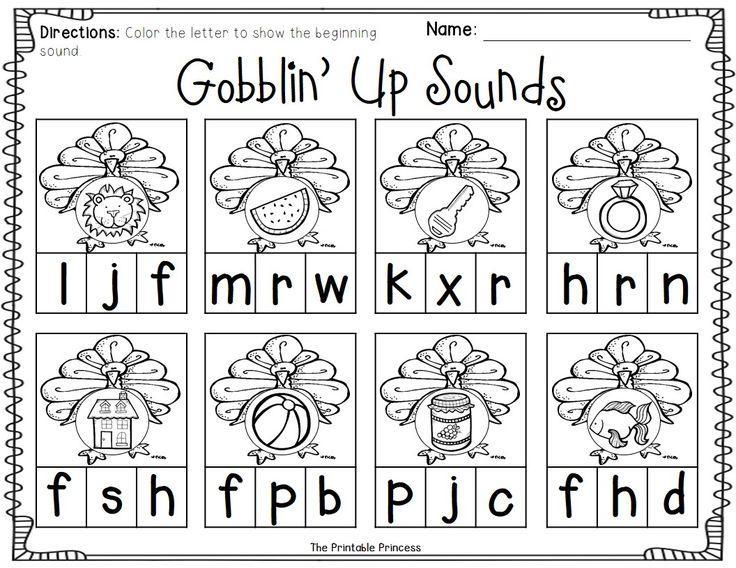 Preschool Worksheets Beginning Sounds 3