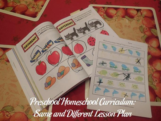 Preschool Worksheets Different Same 4