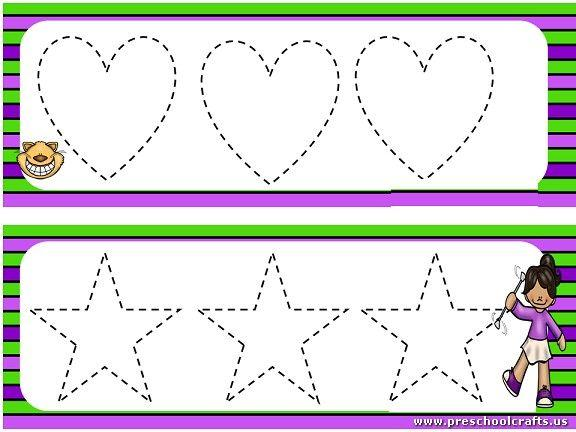 Preschool Worksheets Dotted Lines 5