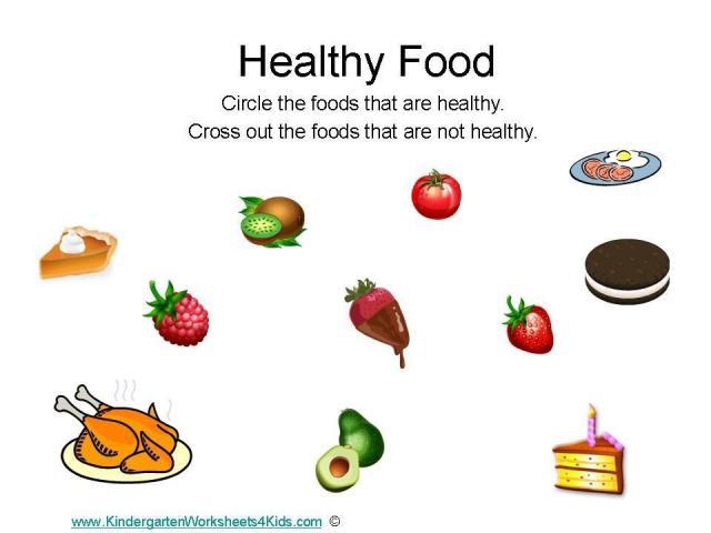 Preschool Worksheets Healthy Food