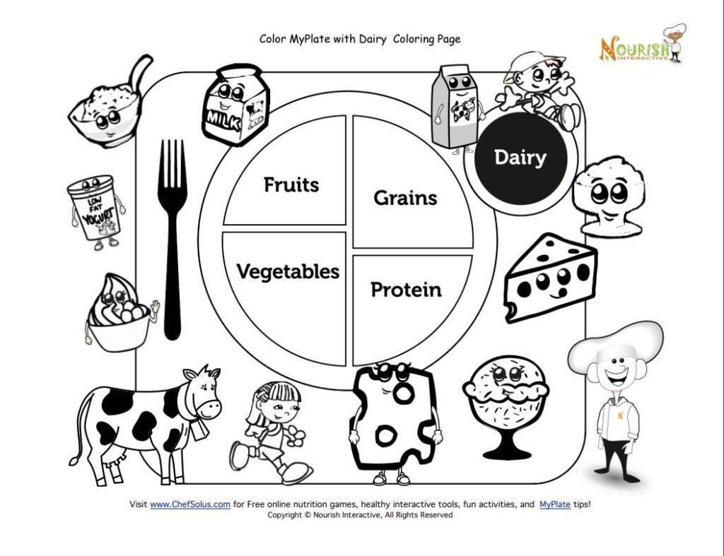 Preschool Worksheets Healthy Food 6