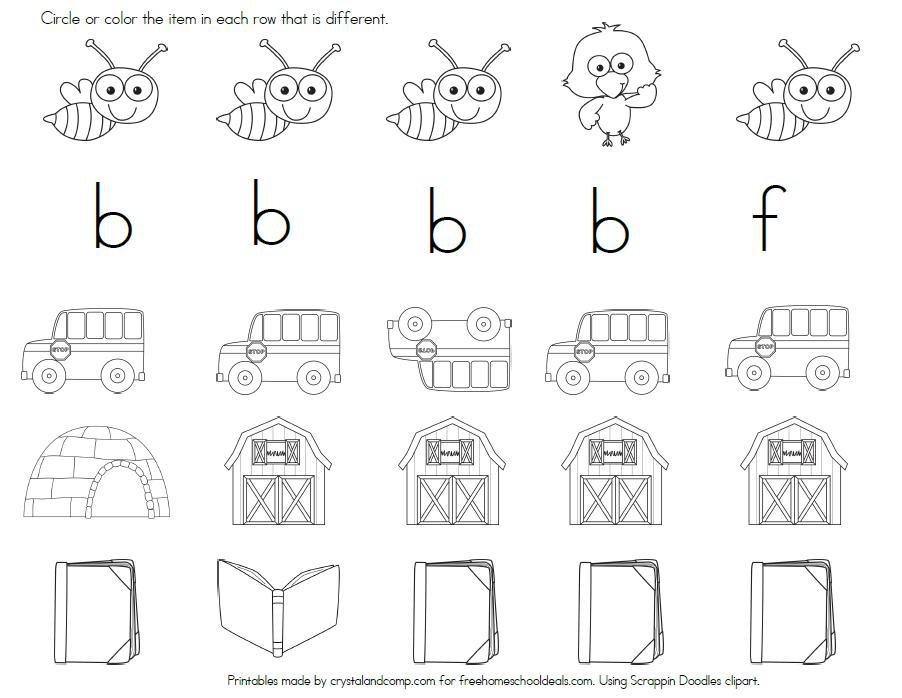 Preschool Color By Letter Worksheets