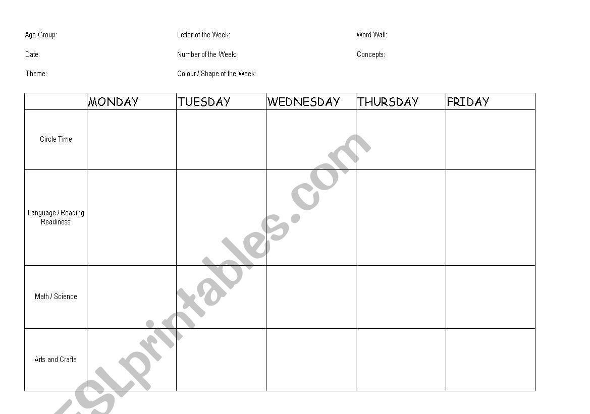 Preschool Readiness Worksheets 2