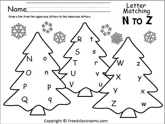 Preschool Worksheets Matching Upper Lowercase Letters 3