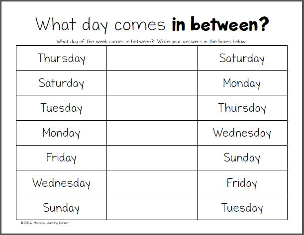 Preschool Worksheets Months 3