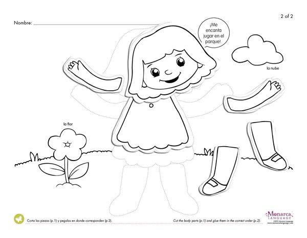 Preschool Worksheets My Body 6