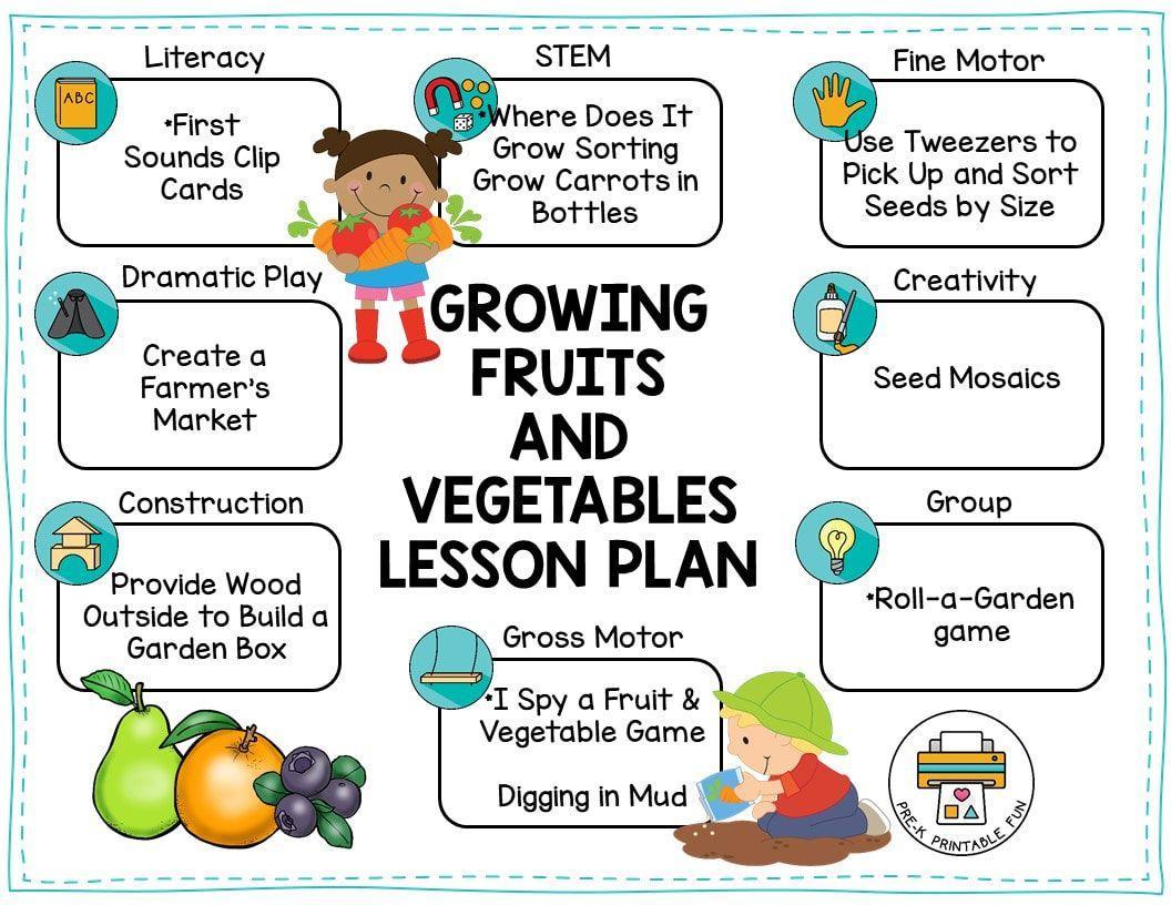 Preschool Worksheets On Fruits And Vegetables 4