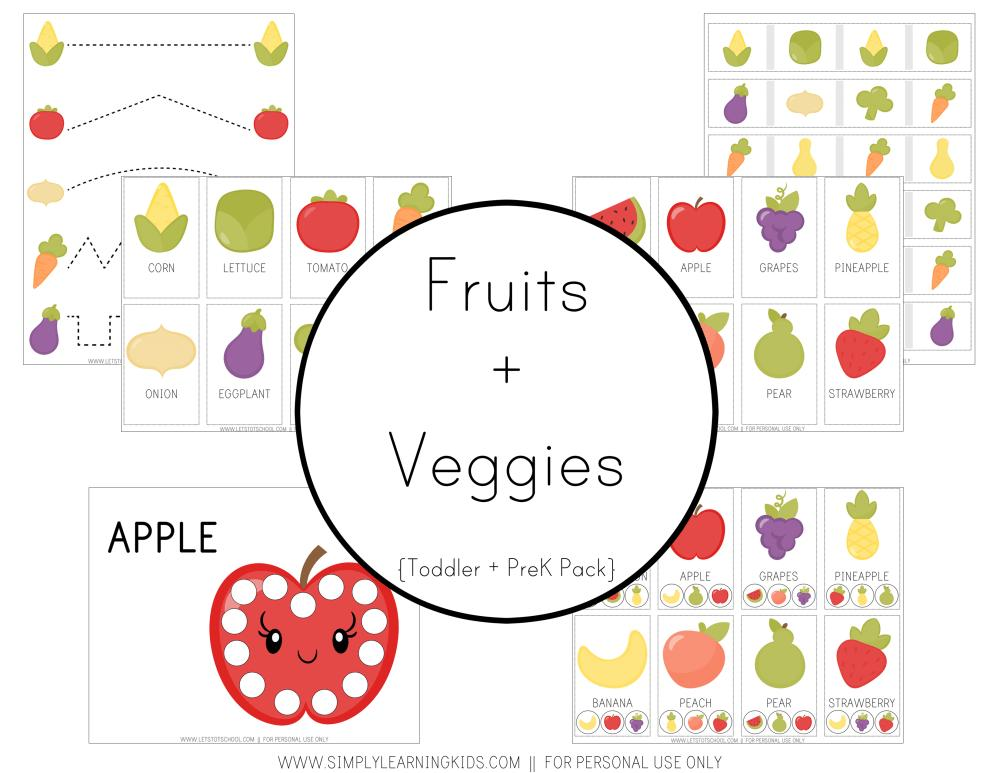 Preschool Worksheets On Fruits And Vegetables 6