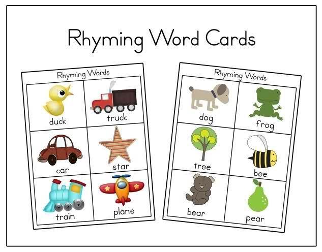Preschool Worksheets Rhyming Words 1