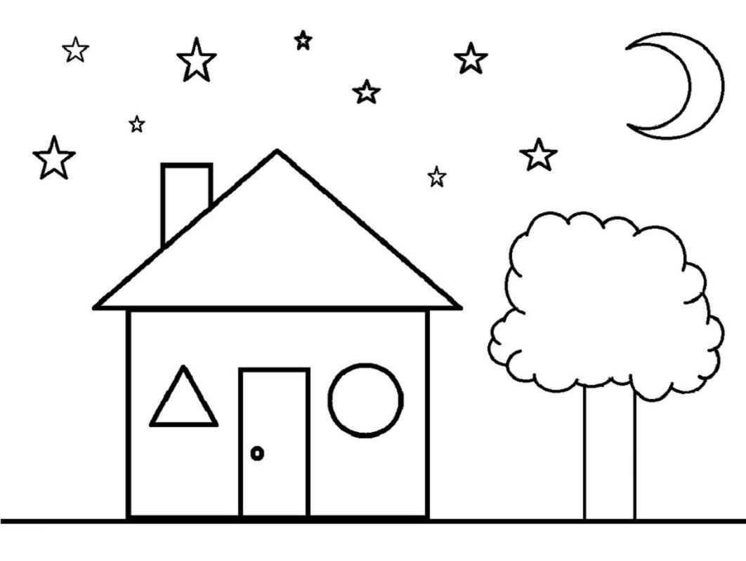 Preschool Worksheets Star Shapes