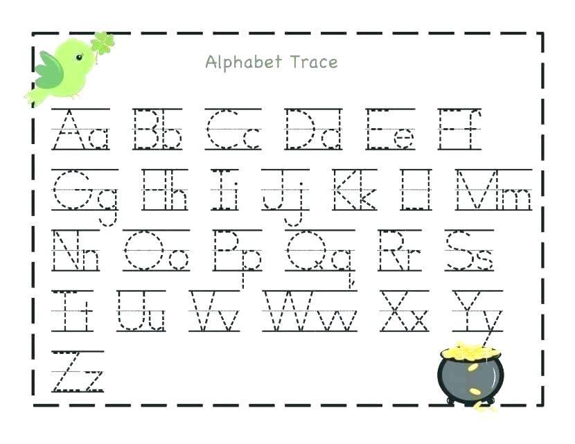 Preschool Worksheets Tracing Name