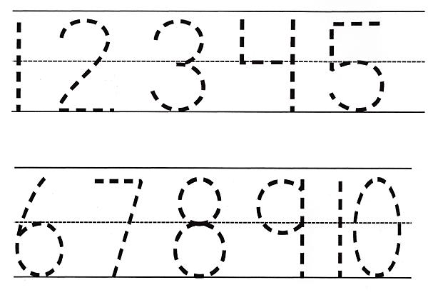 Printable Preschool Worksheets Tracing Numbers
