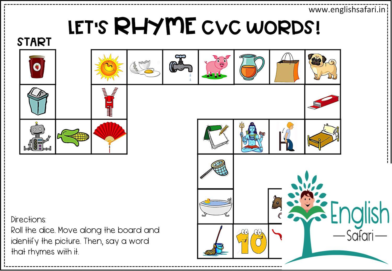 Rhyming Words Worksheets For Preschool