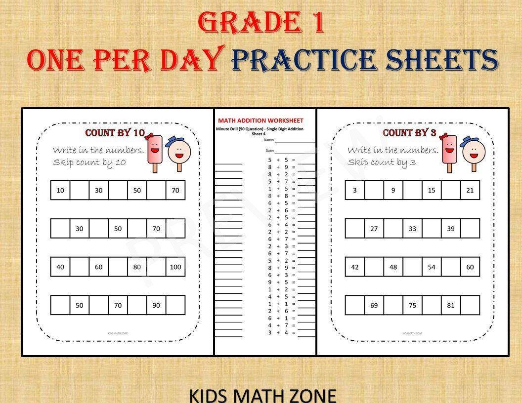 Math Worksheets Grade 1 7
