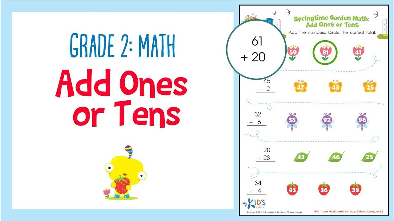 Math Worksheets Grade 2 1