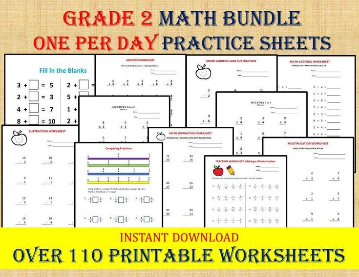 Math Worksheets Grade 2 4