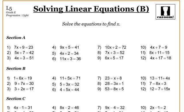 Math Worksheets Grade 7 10
