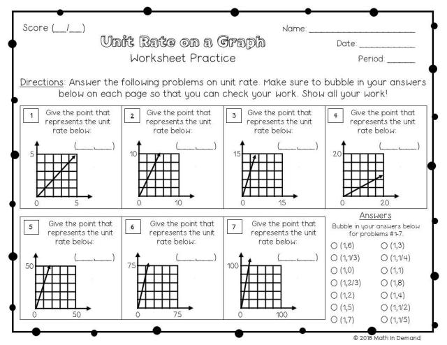 Math Worksheets Grade 7 7