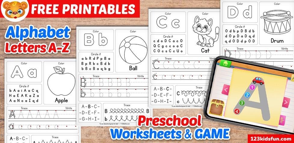 Preschool Alphabet Worksheets A-z 6