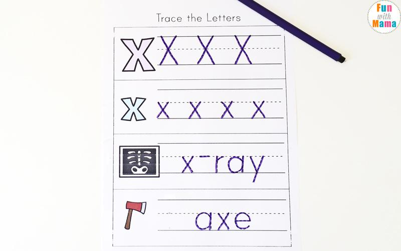 Preschool Worksheets For Letter X