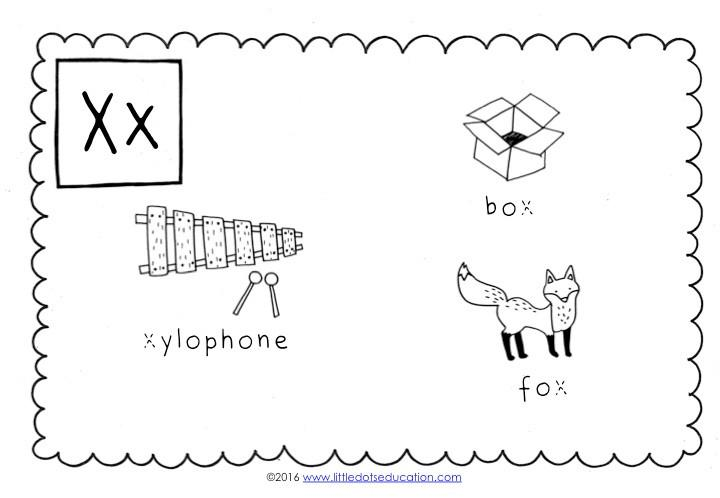 Preschool Worksheets Letter X 2