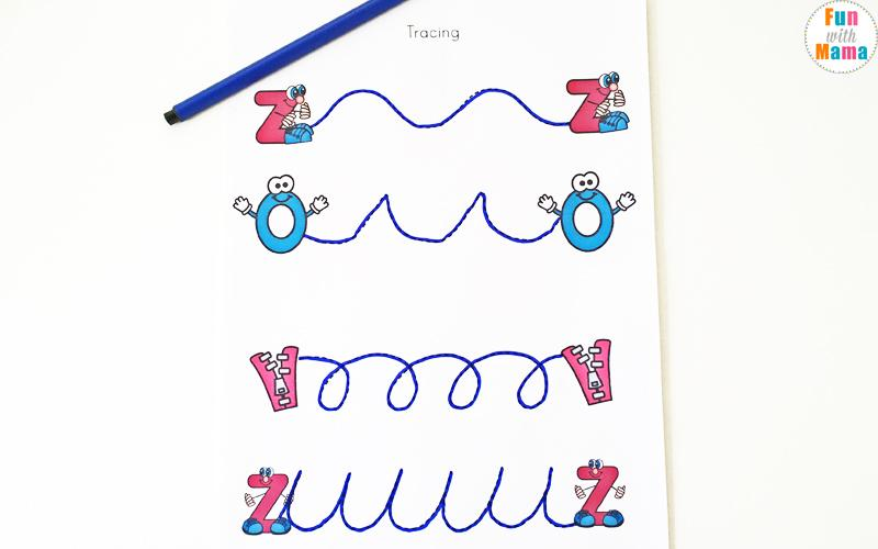 Preschool Worksheets Letter Z 5