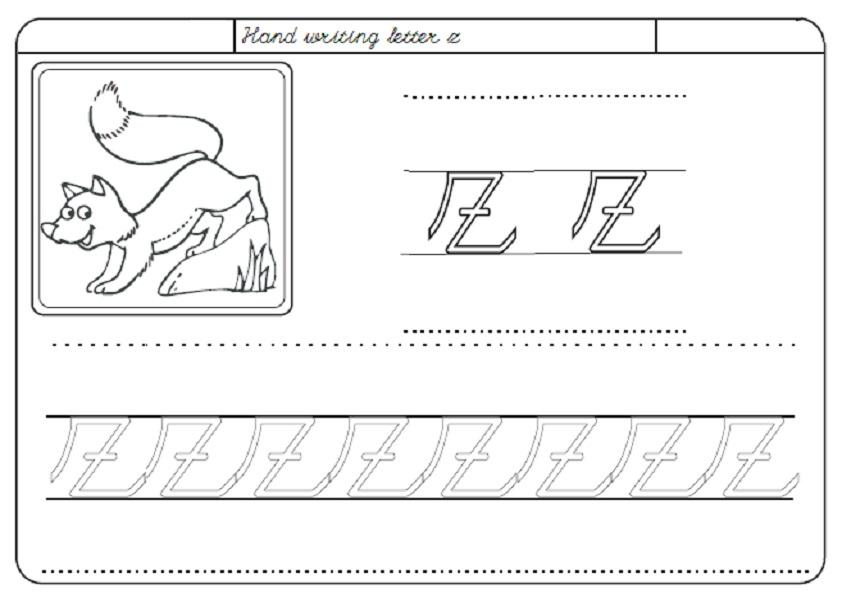 Preschool Worksheets Letter Z 8