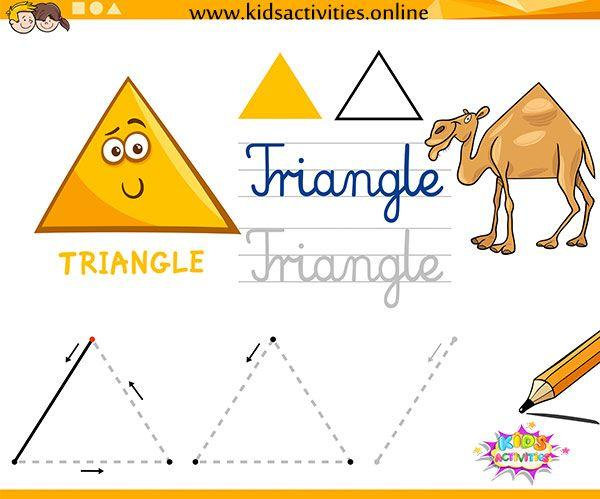 Preschool Worksheets Tracing Shapes 3