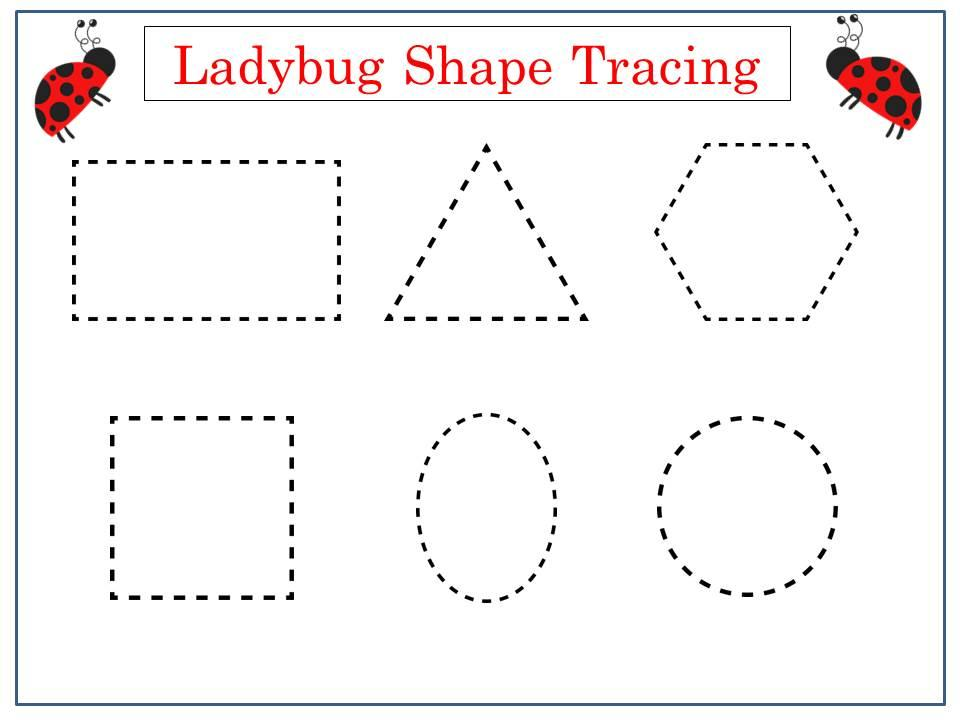 Preschool Worksheets Tracing Shapes 6