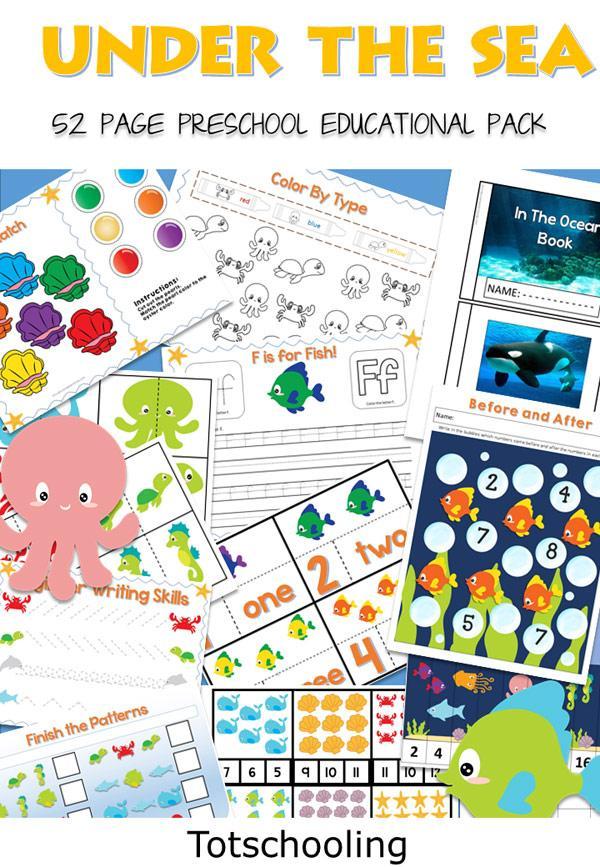 Preschool Worksheets Under The Sea 6