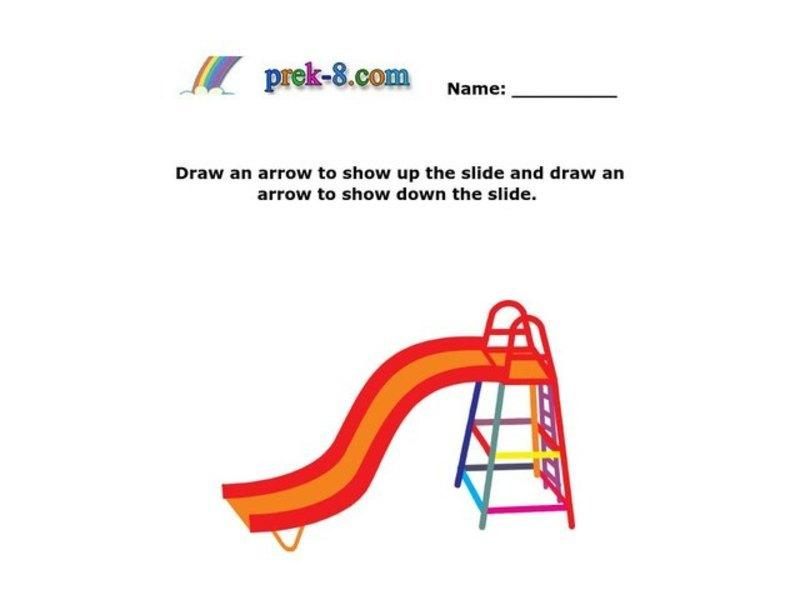 Preschool Worksheets Up And Down 5