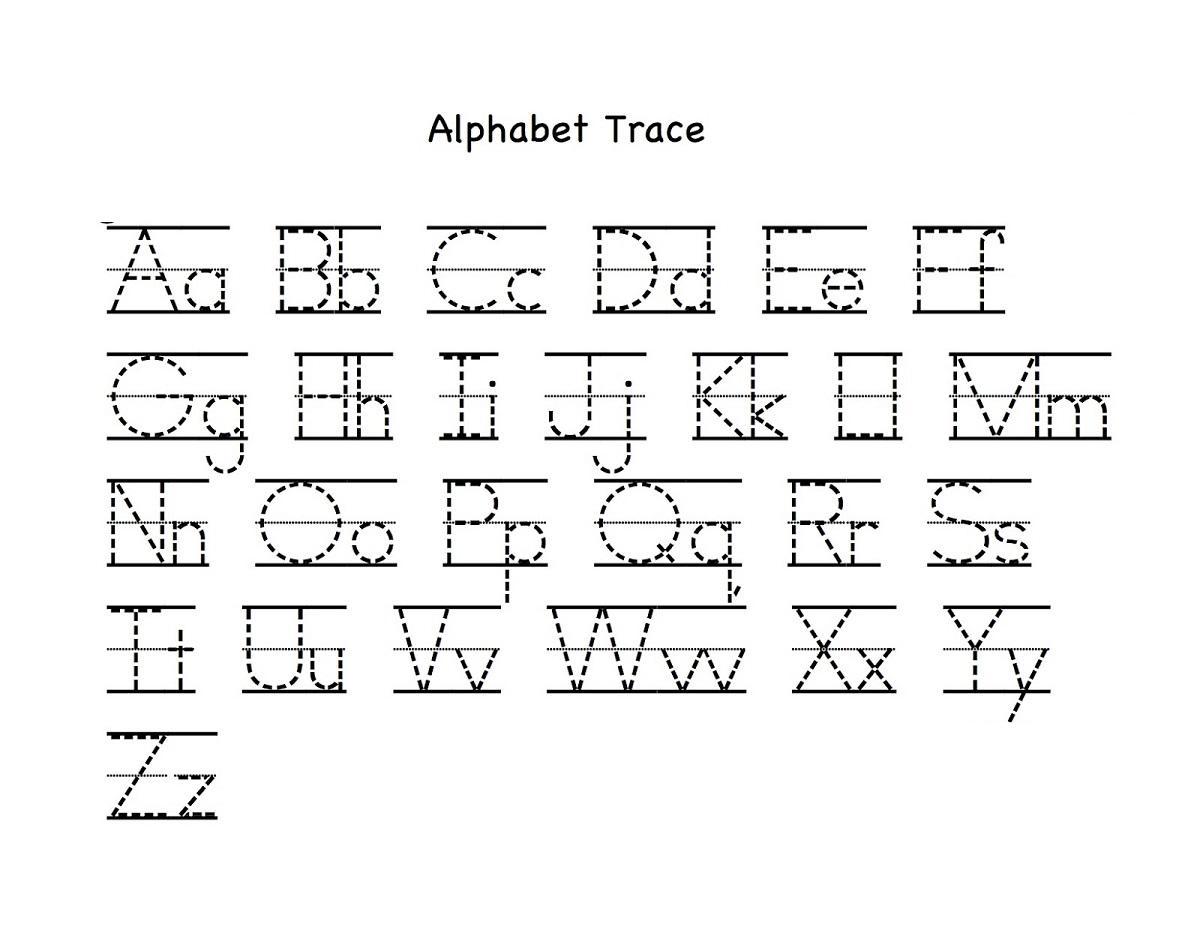 Preschool Worksheets Writing Alphabet
