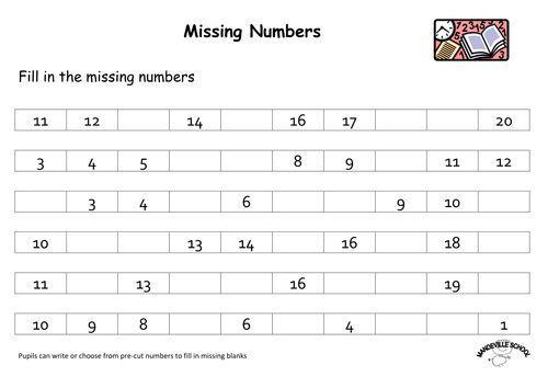 Preschool Worksheets Writing Numbers 2